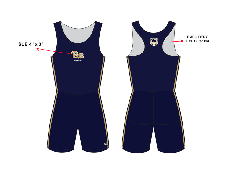 "**REQUIRED** Women's Classic ""Pitt"" Unisuit - UNIVERSITY PITTSBURGH"