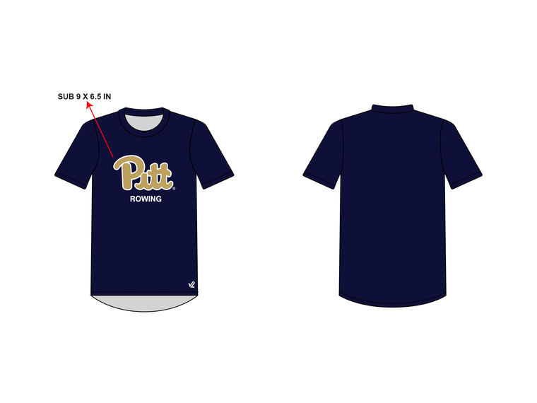 Men's Loose Short Sleeve Shirt - UNIVERSITY PITTSBURGH
