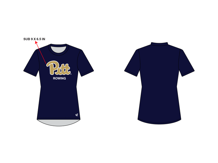 Women's Loose Short Sleeve Shirt - UNIVERSITY PITTSBURGH