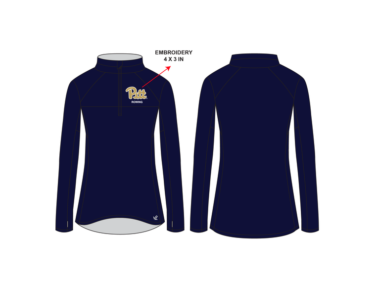 **REQUIRED** Women's Performance Quarter Zip - UNIVERSITY PITTSBURGH