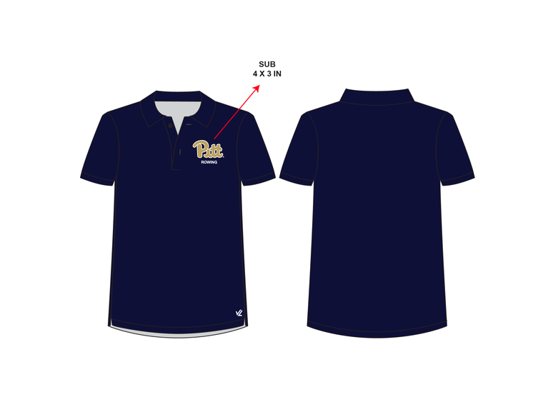 Men's Performance Polo - UNIVERSITY PITTSBURGH