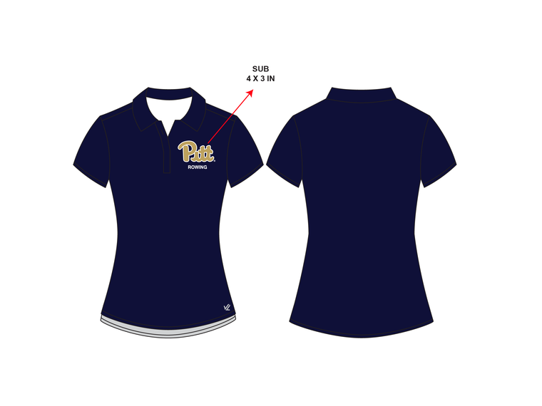 Women's Performance Polo - UNIVERSITY PITTSBURGH