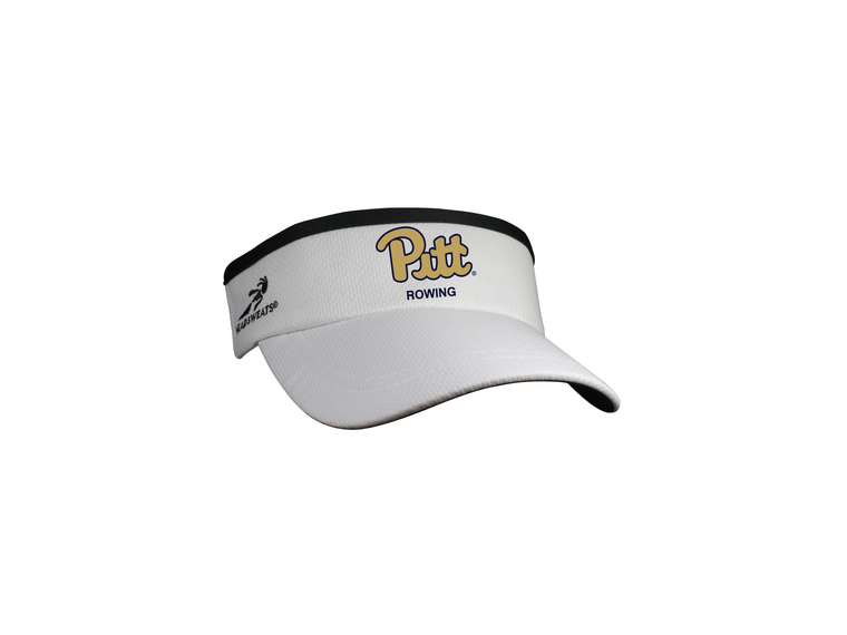 White Headsweats Visor - UNIVERSITY PITTSBURGH
