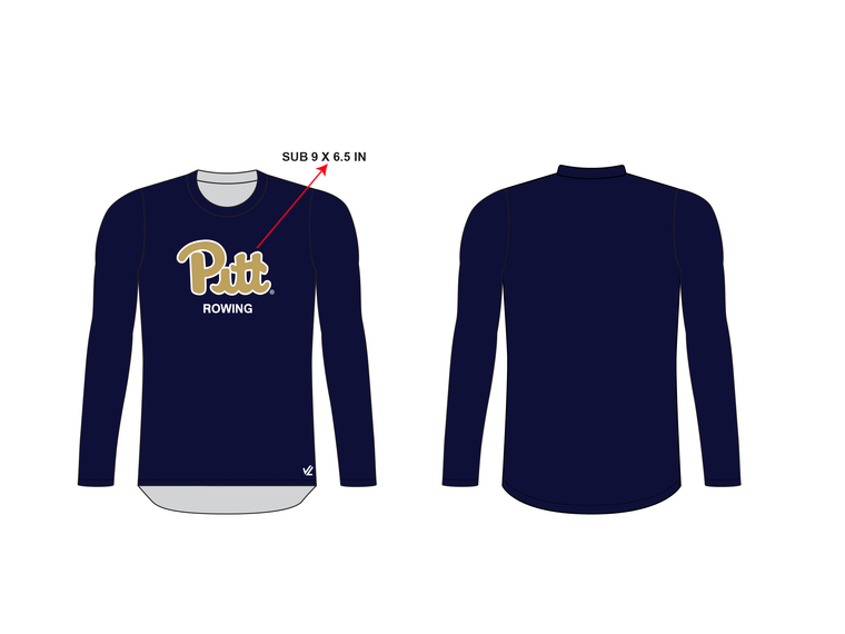 Men's Loose Long Sleeve Shirt - UNIVERSITY PITTSBURGH