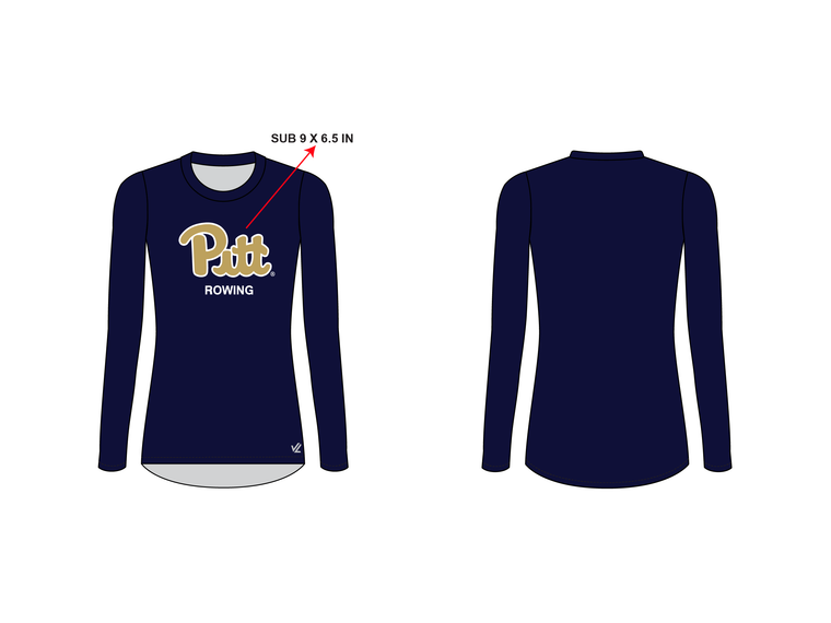 Women's Loose Long Sleeve Shirt - UNIVERSITY PITTSBURGH