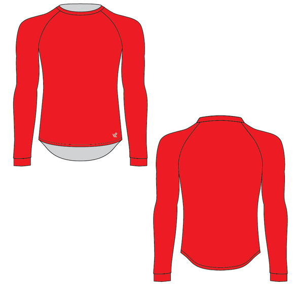 Unisex Red Tech Shirt Long Sleeve - WHATCOM