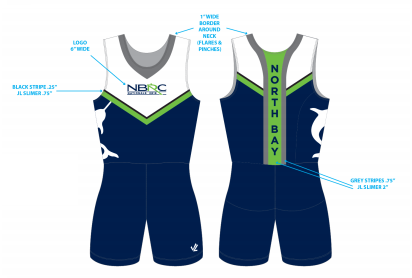 Men's Solid Unisuit - NORTH BAY ROWING CLUB JUNIORS