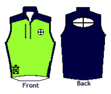 Men's Midweight Sequel Turtleshell Vest Lime Green - NORTH BAY ROWING CLUB JUNIORS