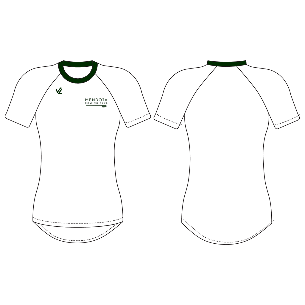 Women's Tech Shirt Short Sleeve - MENDOTA ROWING