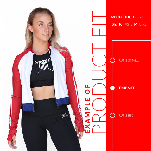 Women's Mesh Crop Jacket - ROCKBOX