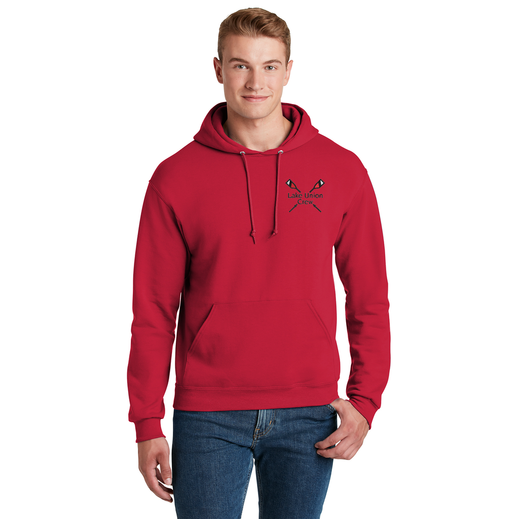ASI Unisex Pullover Hooded Sweatshirt Red - LAKE UNION