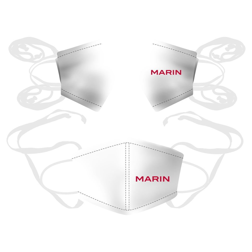 3 Pack - Unity Reusable Face Mask White with Logo - MARIN ROWING