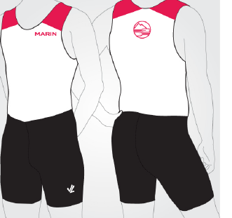 Men' Solid Unisuit - MARIN ROWING