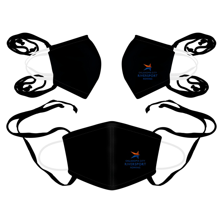 3 Pack - JL Racing Face Mask Black - OKC BOATHOUSE