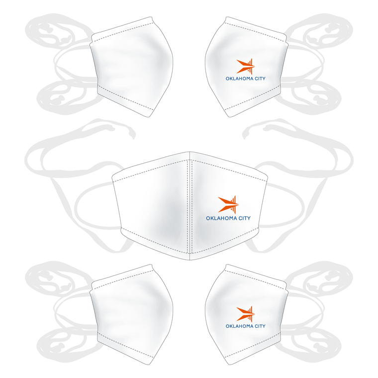 5 Pack - JL Racing Face Mask White - OKC BOATHOUSE