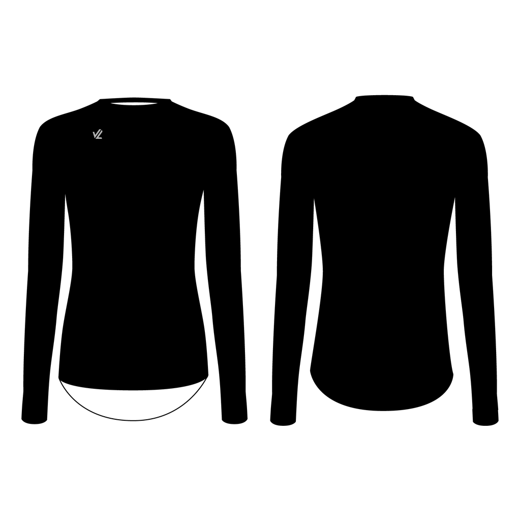 Women's Tech Shirt Thermo Long Sleeve  Black - PELHAM