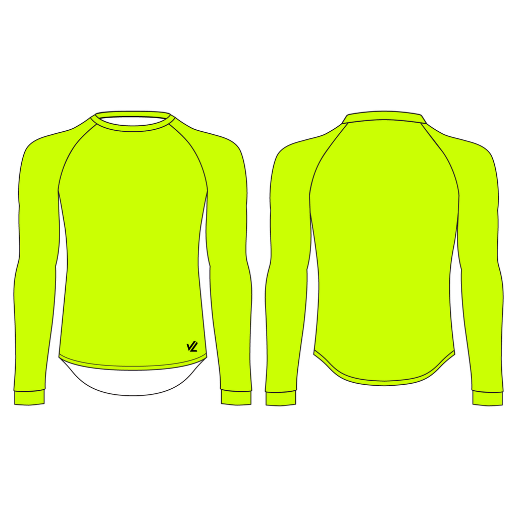 Unisex Tech Shirt Long Sleeve Flo Yellow - RENTON ROWING