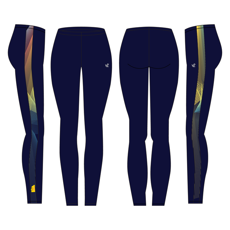 "Unisex Vertical 3"" Tight - ROWING IN COLOR"
