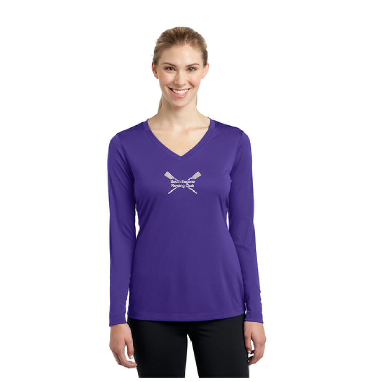 Women's Long Sleeve Tee Purple - SOUTH EUGENE