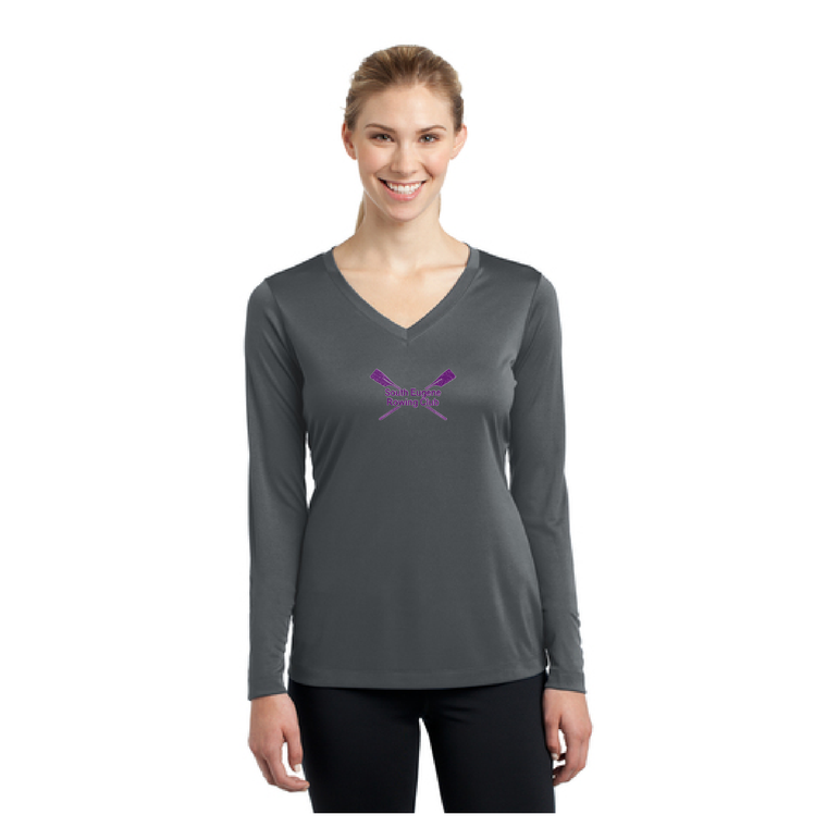 Women's Long Sleeve Tee Iron Gray - SOUTH EUGENE