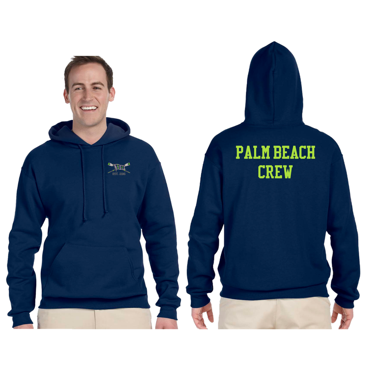Unisex Fleece Pullover Hooded - PALM BEACH CREW