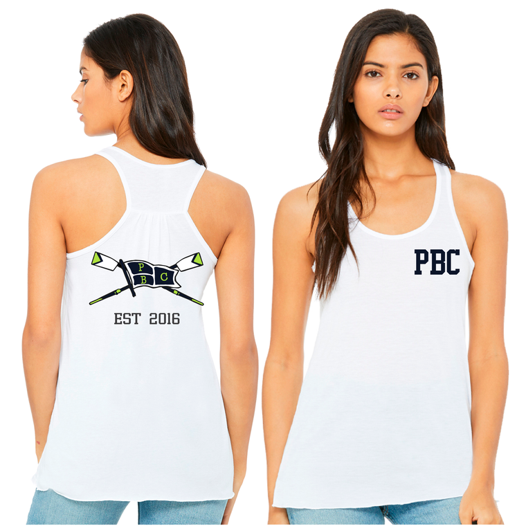 Women's White Tank - PALM BEACH CREW
