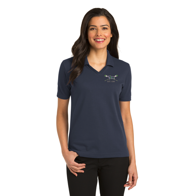 Women's Navy Polo Shirt - PALM BEACH ROWING