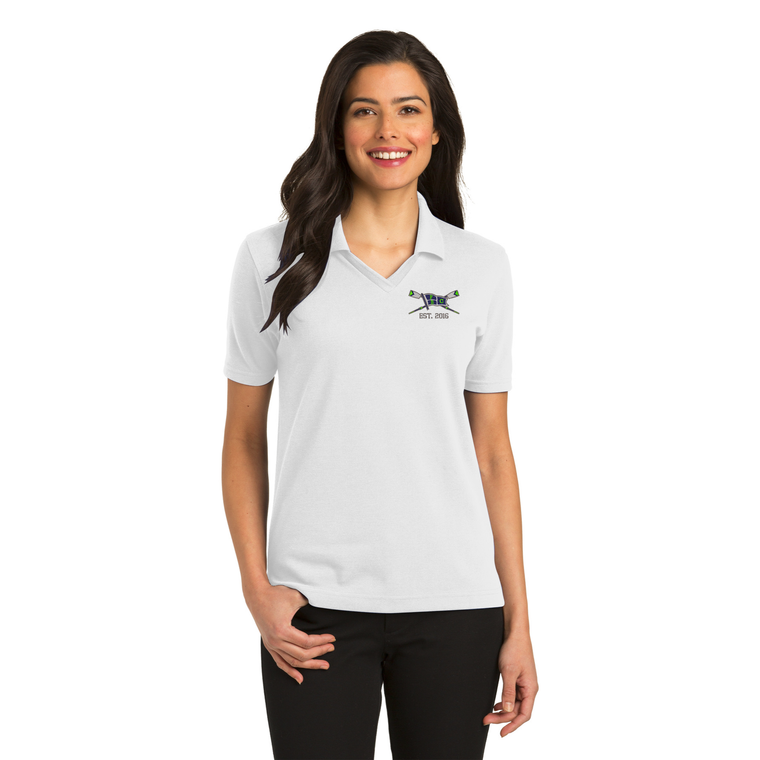 Women's White Polo Shirt - PALM BEACH ROWING