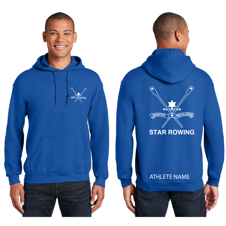 ASI Unisex Royal Blue Hooded Sweatshirt - STAR BOATING CLUB