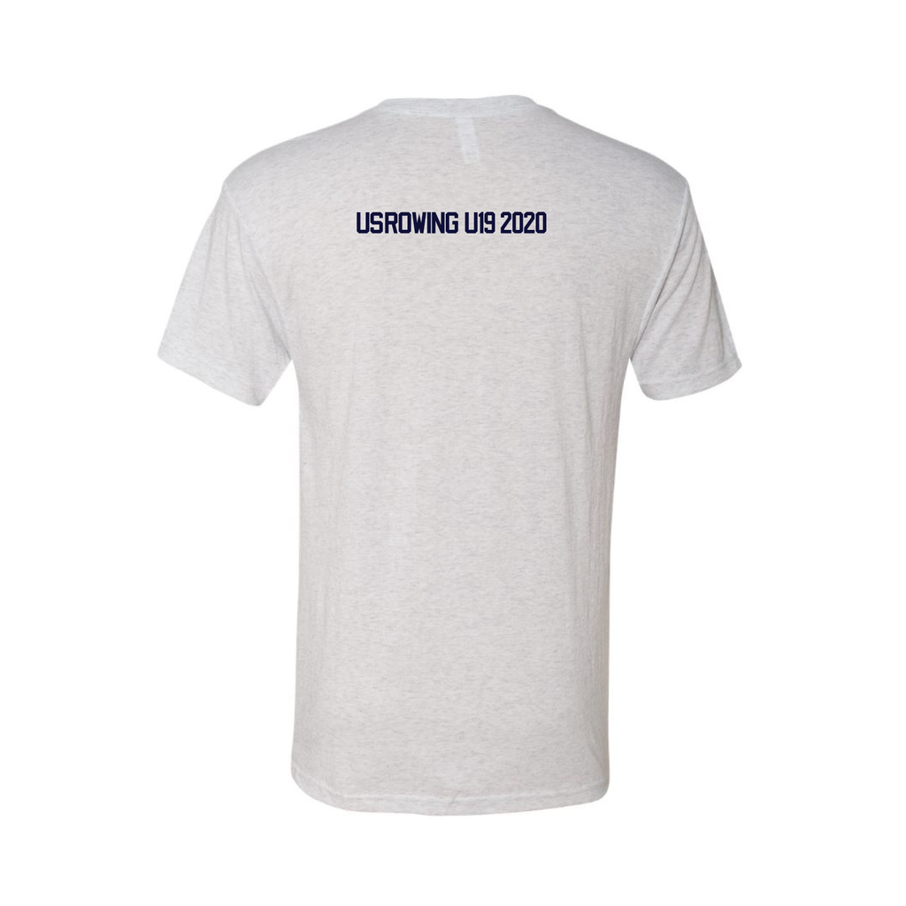 ASI Men's Cotton Short Sleeve T-Shirt White - USROWING U19