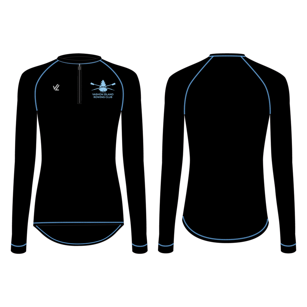 Women's Zip Tech Shirt Long Sleeve - VASHON MASTERS