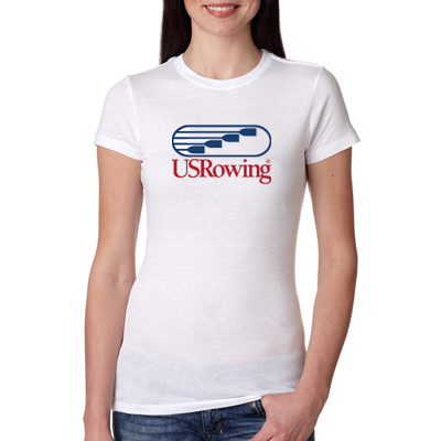 USR JL Women's White Short Sleeve Shirt
