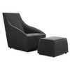 Decenni Lucido Accent Chair and Ottoman - Los Angeles Custom Furniture