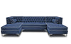 Tobias 10 Foot Double Chaise Tufted Sectional by Los Angeles Custom Furniture - Los Angeles Custom Furniture