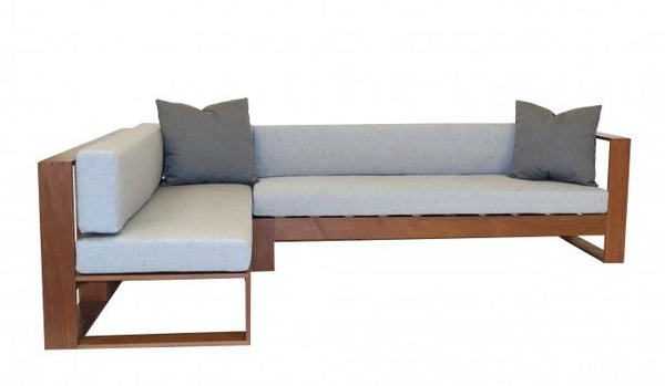 Decenni IPE Outdoor Sectional Sunbrella Cushions by Los Angeles Custom Furniture - Los Angeles Custom Furniture