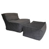 Perlina Chair and Ottoman (Bead Fill) - Los Angeles Custom Furniture