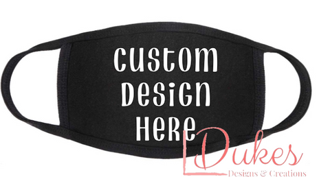Custom Design Fabric Face Covering