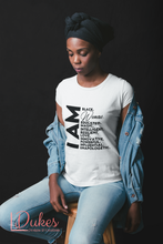 Load image into Gallery viewer, I AM Black Woman Affirmation Tee