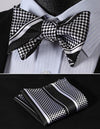 mamba checks jacquard silk bow tie and pocket square