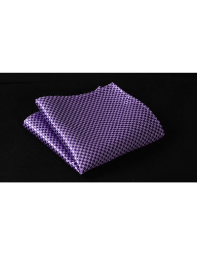 Pure Purple Check Silk Bow Tie Set