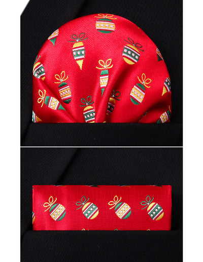 Christmas Red Yellow Green Silk Bowtie Set