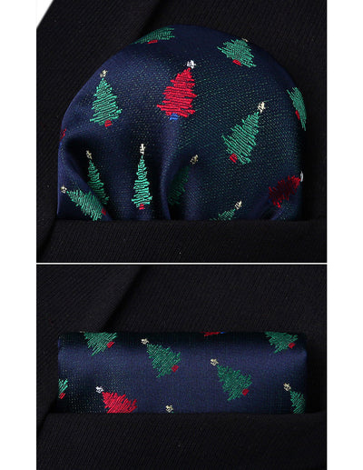 Christmas Green Red Silk Bowtie Set