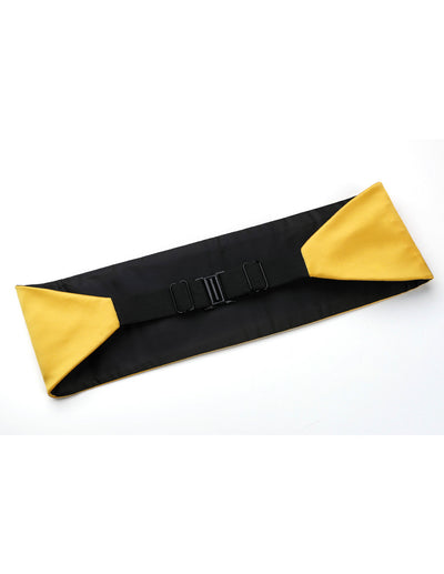 Yellow Silk Cummerbund Set