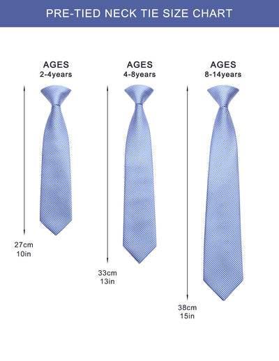 3Pcs Pre-Tied Tie Sets For Kids #3B