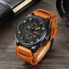 Military Quartz Brand Luxury Leather Sports Wristwatch Date Clock 8225