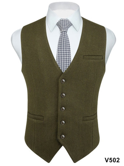 Classic Slim Fit Formal Wool Blend Suits Vest for Tuxedo