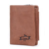 Genuine leather vintage short and slim card holder mens wallet