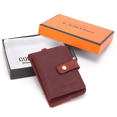 Genuine Leather Men Key Wallets Car Keys Holder