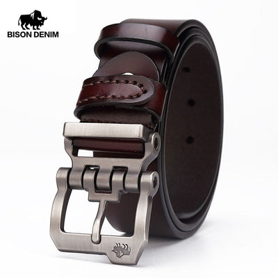 genuine leather designer belt for men