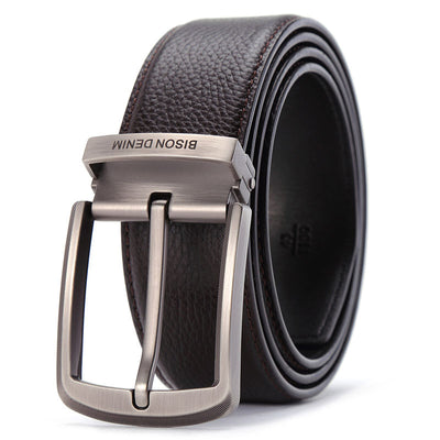 Brand genuine Leather Belts Pin Buckle Men's Belt